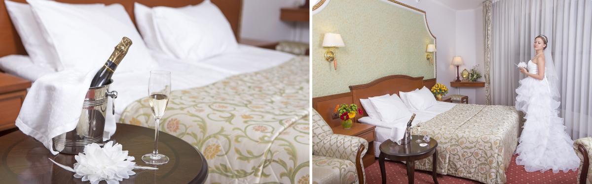 Свадебный номер для молодоженов в гостинице с